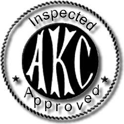 AKC Inspected Sticker